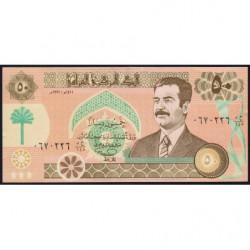 Irak - Pick 75_2 - 50 dinars - 1991 - Etat : NEUF