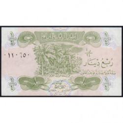 Irak - Pick 77v - 1/4 dinar - 1993 - Variété - Etat : NEUF
