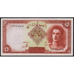 Iran - Pick 39 - 5 rials - 1944 - Etat : NEUF