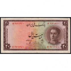 Iran - Pick 48 - 20 rials - 1948 - Etat : TB+