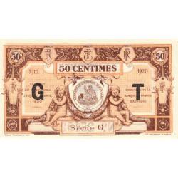 Aurillac (Cantal) - Pirot 16-9b-G - 50 centimes - 1915 - Etat : NEUF