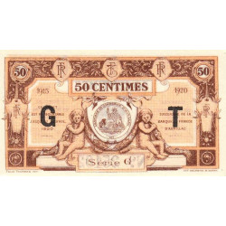 Aurillac (Cantal) - Pirot 16-9b - Série G - 50 centimes - 1915 - Etat : NEUF
