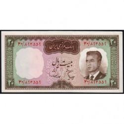 Iran - Pick 78b - 20 rials - 1965 - Etat : SUP+