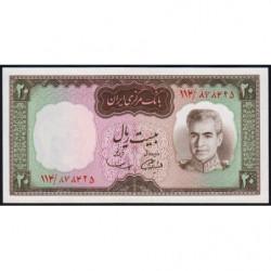 Iran - Pick 84 - 20 rials - 1969 - Etat : NEUF