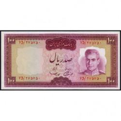 Iran - Pick 86a - 100 rials - 1969 - Etat : NEUF