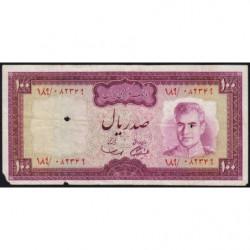 Iran - Pick 91a - 100 rials - 1971 - Etat : B