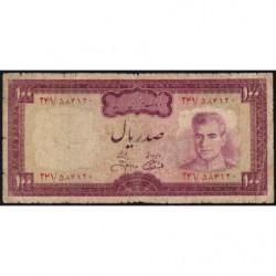 Iran - Pick 91c - 100 rials - 1971 - Etat : B+
