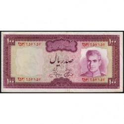 Iran - Pick 91c - 100 rials - 1971 - Etat : TTB