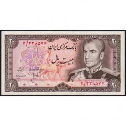 Iran - Pick 100a_1 - 20 rials - 1975 - Etat : NEUF