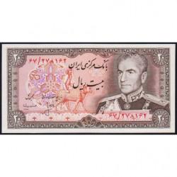 Iran - Pick 100a_2 - 20 rials - 1975 - Etat : NEUF