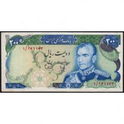 Iran - Pick 103a - 200 rials - 1974 - Etat : SUP