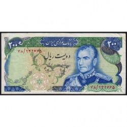 Iran - Pick 103b - 200 rials - 1975 - Etat : TTB