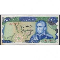 Iran - Pick 103c - 200 rials - 1975 - Etat : TTB+