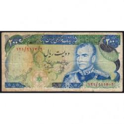 Iran - Pick 103c - 200 rials - 1975 - Etat : B+