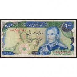 Iran - Pick 103c - 200 rials - 1975 - Etat : TB
