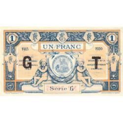 Aurillac (Cantal) - Pirot 16-10b - Série G - 1 franc - 1915 - Etat : SUP