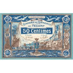 Fécamp - Pirot 58-1 - 50 centimes - 06/08/1920 - Etat : SPL