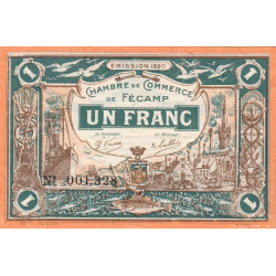 Fécamp - Pirot 58-03 - 1 franc - 1920 - Etat : SUP+