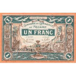 Fécamp - Pirot 58-3 - 1 franc - 06/08/1920 - Etat : SUP+