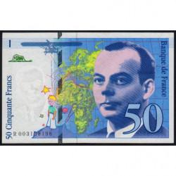 F 72-01b - 1992 - 50 francs - Saint-Exupéry - Etat : TTB+