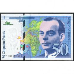 F 72-01b - 1992 - 50 francs - Saint-Exupéry - Série P - Etat : NEUF