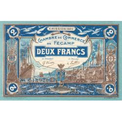 Fécamp - Pirot 58-5 - 2 francs - 06/08/1920 - Etat : SUP