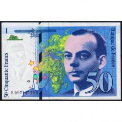 F 72-02 - 1993 - 50 francs - Saint-Exupéry - Etat : TTB+