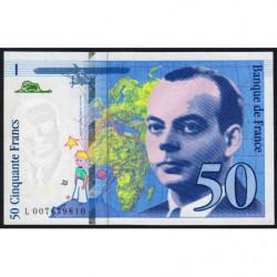 F 72-02 - 1993 - 50 francs - Saint-Exupéry - Etat : SUP