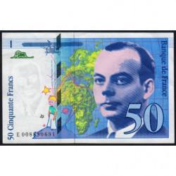 F 72-02 - 1993 - 50 francs - Saint-Exupéry - Série E - Etat : SUP+