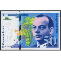 F 72-02 - 1993 - 50 francs - Saint-Exupéry - Etat : SUP+