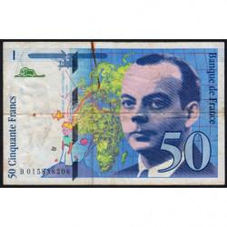 F 73-01a - 1994 - 50 francs - Saint-Exupéry - Etat : TB-