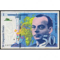 F 73-01a - 1994 - 50 francs - Saint-Exupéry - Série S - Etat : TTB