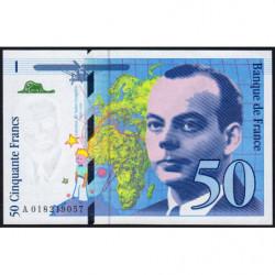 F 73-01b - 1994 - 50 francs - Saint-Exupéry - Série A - Etat : NEUF