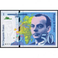 F 73-01b - 1994 - 50 francs - Saint-Exupéry - Série M - Etat : NEUF