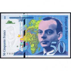 F 73-01d - 1994 - 50 francs - Saint-Exupéry - Série V - Etat : NEUF
