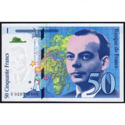 F 73-01d - 1994 - 50 francs - Saint-Exupéry - Série U - Etat : NEUF
