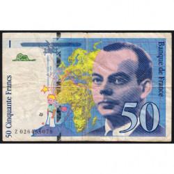 F 73-01d - 1994 - 50 francs - Saint-Exupéry - Série Z - Etat : TB-