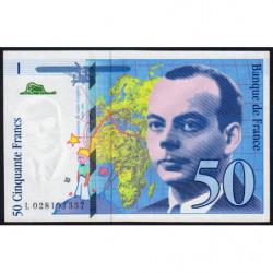 F 73-01d - 1994 - 50 francs - Saint-Exupéry - Série L - Etat : NEUF