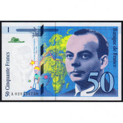 F 73-02 - 1996 - 50 francs - Saint-Exupéry - Série A - Etat : NEUF
