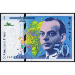 F 73-02 - 1996 - 50 francs - Saint-Exupéry - Série N - Etat : SPL+