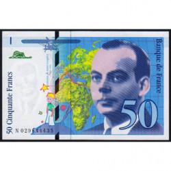 F 73-02 - 1996 - 50 francs - Saint-Exupéry - Série N - Etat : NEUF