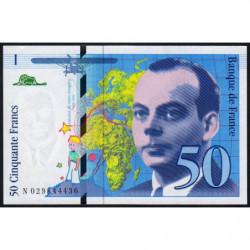 F 73-02 - 1996 - 50 francs - Saint-Exupéry - Etat : pr.NEUF
