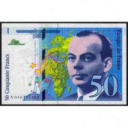 F 73-03 - 1996 - 50 francs - Saint-Exupéry - Etat : TTB+