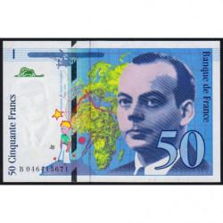 F 73-03 - 1996 - 50 francs - Saint-Exupéry - Série B - Etat : SPL