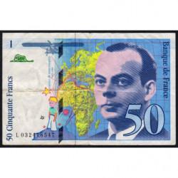 F 73-04 - 1997 - 50 francs - Saint-Exupéry - Série L - Etat : TB+