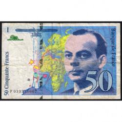 F 73-04 - 1997 - 50 francs - Saint-Exupéry - Série P - Etat : B+