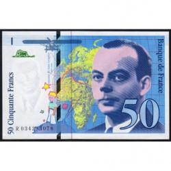 F 73-04 - 1997 - 50 francs - Saint-Exupéry - Série P - Etat : pr.NEUF