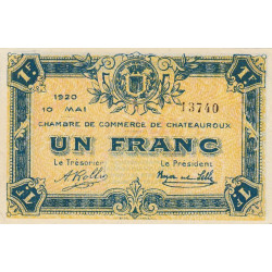 Chateauroux - Pirot 46-23 - 1 franc - 1920 - Etat : SPL