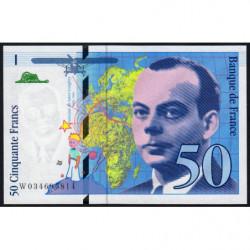 F 73-04 - 1997 - 50 francs - Saint-Exupéry - Série W - Remplacement - Etat : NEUF