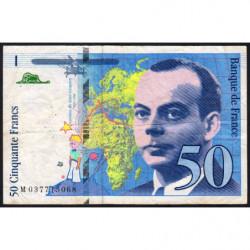 F 73-04 - 1997 - 50 francs - Saint-Exupéry - Série M - Etat : TB-